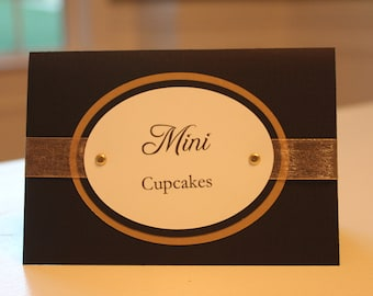 Black & Gold Candy Buffet Tag