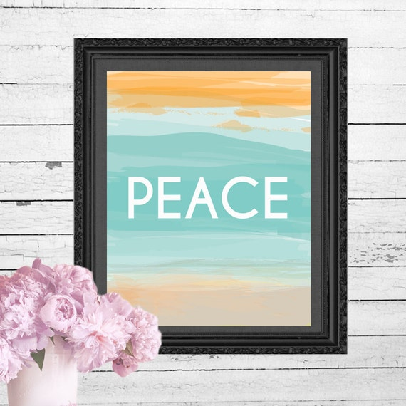Calming Colors That Will Perfect Your Home: Items Similar To Peace Printable Resembling The Calming