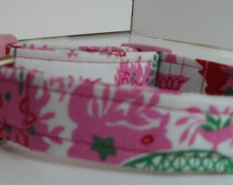 Assorted Pinks Floral Dog Collar - Pet Accessory