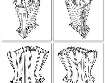 Butterick 4254 Corset Sewing Pattern Size 6-8-10