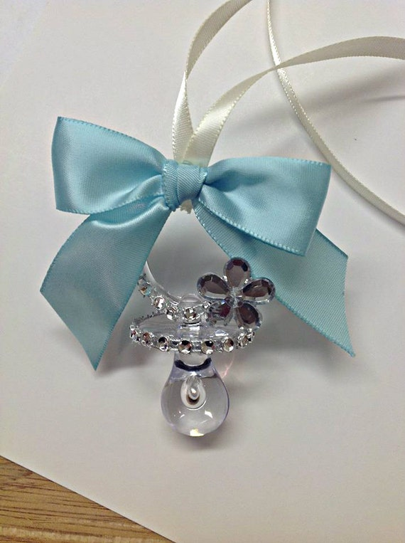 items similar to 12 pcs baby shower pacifier necklace and diamond