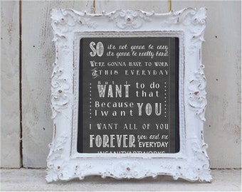 Notebook Movie Quote Not Easy Chalk Typography Print
