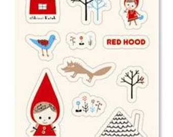 Little Red Riding Hood Stickers  - 1 sheet