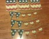 Burlap Flags Chevron Stars and Stripes