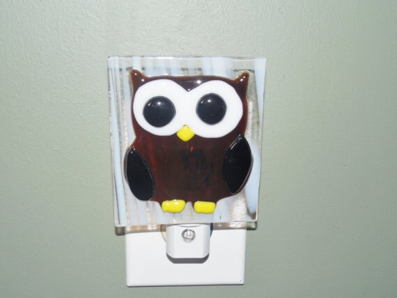 Brown Owl Night Light Bedroom Lighting Nursery Night Light
