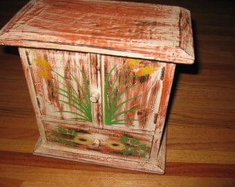 """HAND MADE  WARDROBE Cabinet With Drawer 11 1/2"""" X 11 1/2""""..."""