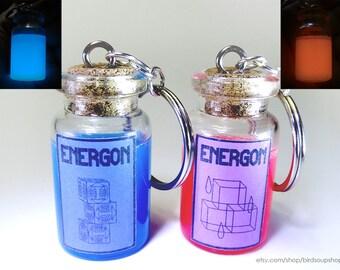 Large Energon Keychain - Glows in the dark!
