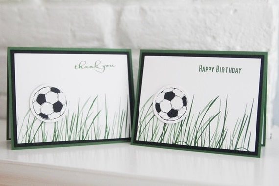Happy Birthday Soccer Card Birthday Wishes Hand Made Card