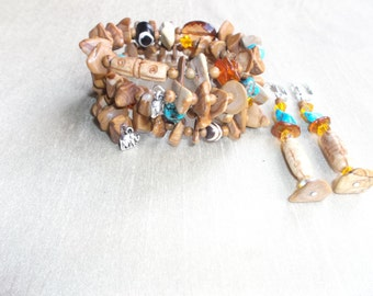 30% OFF Tiger Jasper Wrap Bracelet