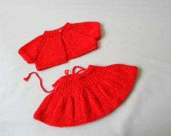 Toddler girl skirt, twirly skirt, baby girl bolero, Knit baby skirt, shrug, toddler gift set, 1st birthday gift, baby gift set, baby bolero