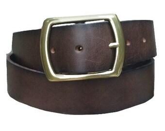 Dark Brown Leather Belt Size Men's 36 Women's M/L
