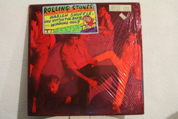 Rolling Stones Dirty Work Vinyl Record W Red By Circacentury