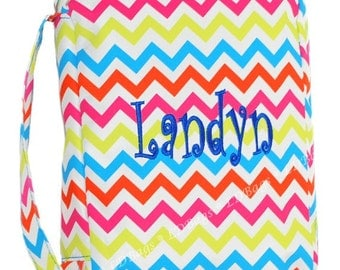 Bible Cover Chevron Bible Cover  Multi Color Monogrammed Bible Cover