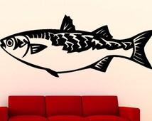 Mullet  Fish Sea Animal Vinyl Wall Art Graphic Decal