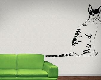 Cornish Rex  Cat Animal   Vinyl Wall Art Graphic Decal