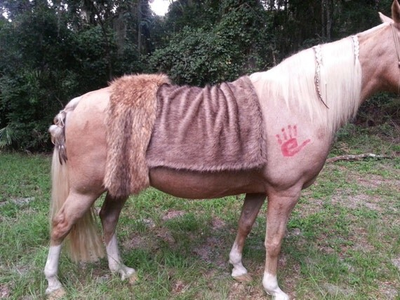Faux Brown Bear Fur Horse Blanket Saddle Cover By MyBuddyBling