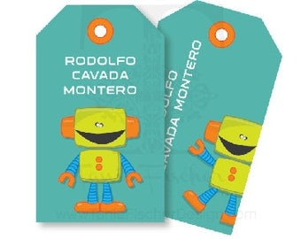 Robot Gift Tags/Tarjetas Tags Robot