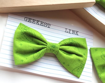 Atomic Bright Green Cotton Bow Tie Gift for Him