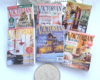 dollhouse magazines victorian homes 12th scale miniature  x 6 lakeland artist new