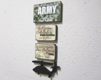 Army Sign - Military Sign - Military Duty Station Sign - Military Gift - Personalized Military Sign - Personalized Military Gift