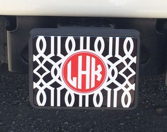 Monogram Trailer Hitch Cover - Monogrammed Gifts - Car Accessories