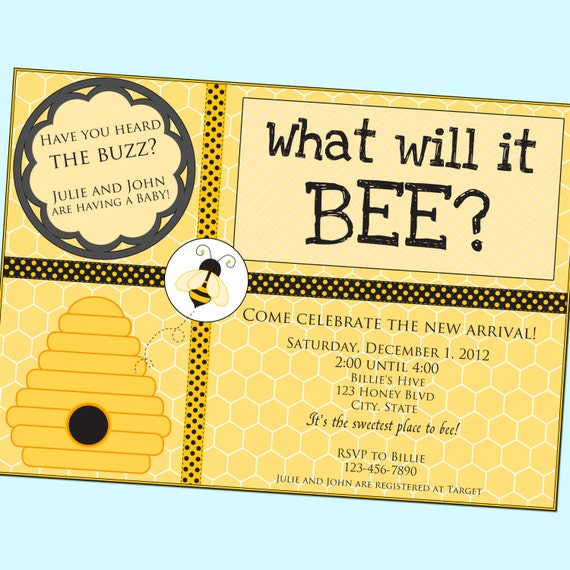 What Will It BEE Baby Shower Invitation Neutral By GoodHueDesigns
