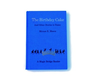 The Birthday Cake and Other Stories to Enjoy, 1963, blue, vintage book