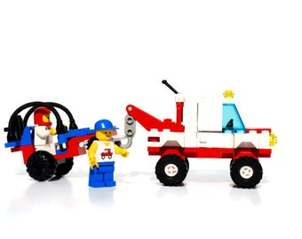 Lego Hook & Haul Wrecker, 1989, red, white, Rare, Vintage toy