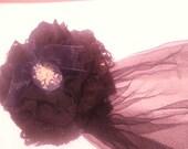 Dark Mori Girl Gothic Lolita Black Lace Brooch Clip and Fascinator