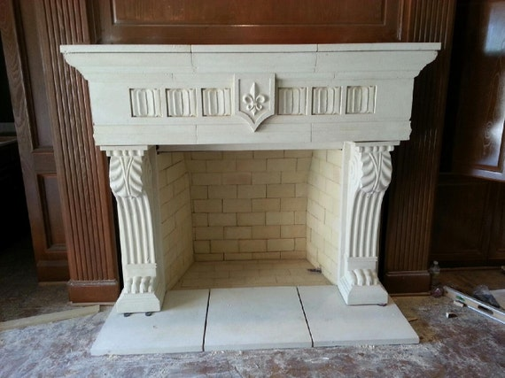 Cast Stone Fireplace Mantel Old World Fireplace Traditional
