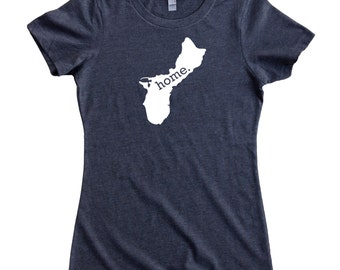 Guam Home State Territory T-Shirt Women's Tee - Multiple Colors Sizes S-XXL