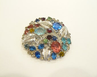 Outstanding Vintage Floral Rhinestone Brooch / Pin Mazer?