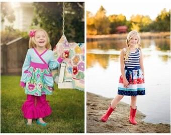 2 Pattern Bundle…Tallulah Top & Evie Dress…20% SAVINGS!