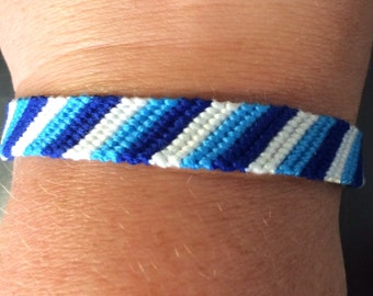 Custom Striped Friendship Bracelet - Woven Macrame Bracelet - Adjustable Bracelets - Stackable Bracelet MADE TO ORDER choose your own colors