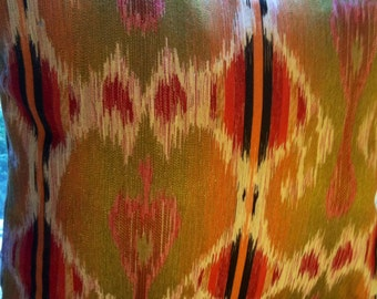 Earthtone Ikat Pillow Cover