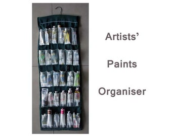 Paint Organiser for Artists SEWING PATTERN Portable Art Paint Mobile Carrier can hold 30 Tubes of Paint