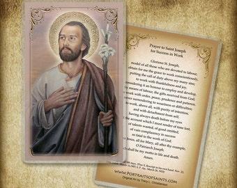 St. Joseph Holy Card / Prayer Card, Catholic #0117