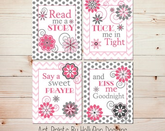 Kids room decor Girl quotes Nursery decor girl Read me a story Pink girls room decor Kids wall decor Baby girl prints Nursery quote #0592