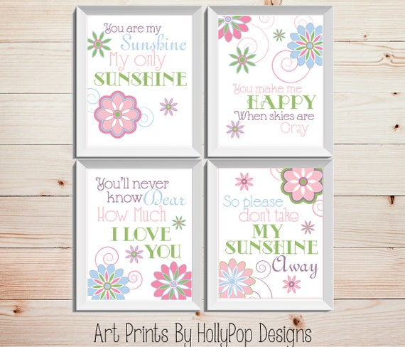 Nursery Ideas And Décor To Inspire You: You Are My Sunshine Baby Girl Nursery Inspirational Song Decor
