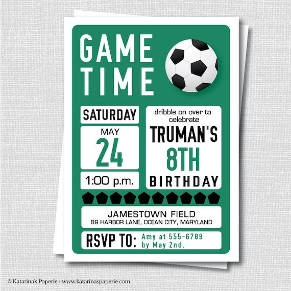 Soccer Themed Birthday Party Invitations were Great Template To Make Perfect Invitations Sample