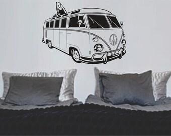 vw bus aufkleber etsy. Black Bedroom Furniture Sets. Home Design Ideas
