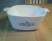 On Sale Corning Ware 1 3/4 Cornflower Casserole Dish Pyrex Glass