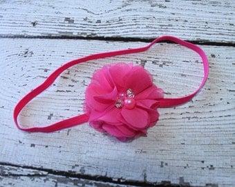 The Mila Headband - baby headbands canada - Newborn Girl Flower Headband