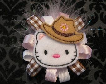 Howdy Kitty Alligator clip