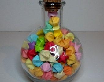 Lucky Star Jar (w/Multicolored Stars)