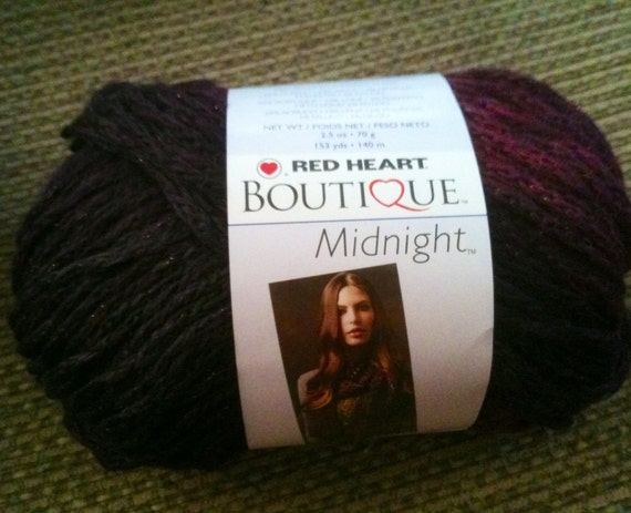 Knitting Patterns For Red Heart Boutique Midnight : Red Heart Boutique Midnight Yarn Serenade Yarn by ZigZagZella