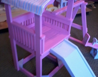 """swingset/playground for 18"""" doll like american girl Painted"""