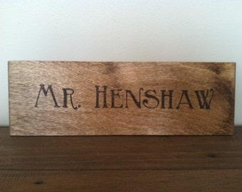 Custom Wooden Name Sign - Gift for Teacher