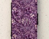 iphone 4, 5 or 6 case -  Galaxy S3 S4 S5 mini -  wallet flip case -  cover - Floral - William Morris - Artichoke - Flower - Arts and Crafts