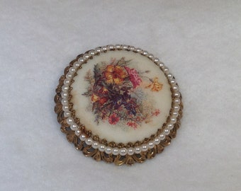 Germany Brooch with Flowers